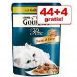 44 +4 på köpet! 48 x 85 g Gourmet Perle - Delikata strimlor med kalv & grönsaker