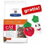 Hill's Prescription Diet Feline + kattleksaker på köpet! - Feline y/d (2 x 5 kg)