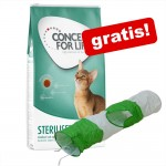Stor påse Concept for Life torrfoder + kattunnel - Sterilised Cats 10 kg