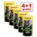 4 + 1 på köpet! 5 x GimCat GrasBits, Baby- eller Cheese Tabs - GrasBits (5 x 140 g)