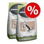 Ekonomipack: 2 förpackningar Greenwoods kattströ till lågt pris! - Plant Fibre (2 x 12,9 kg)
