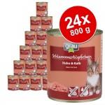 Ekonomipack: Grau Gourmet spannmålsfritt 24 x 800 g - Blandpack, 3 sorter
