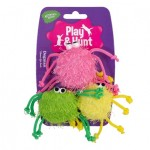 Kattleksaker Färgglada spindlar 3-pack