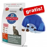 8 / 10 kg Hill's Feline + rolig Trixie Cat Activity Snack Box på köpet! - Sterilised Cat Young Adult Chicken (8 kg)