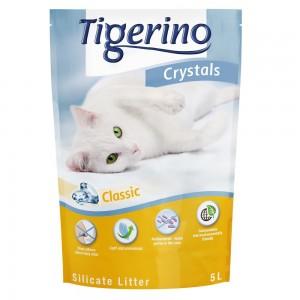Tigerino Crystals kattsand med silikat – Ekonomipack: 6 x 5 l