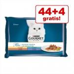 44+4 på köpet! 48 x 85 g Gourmet Perle - Duetto di Carne med lax & sej