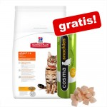 8 / 10 kg Hill's Feline + Cosma Snackies Kyckling på köpet! - Mature Adult 7+ Chicken