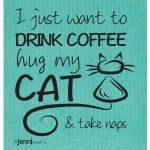 Disktrasa coffe & cat turkos