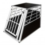 vidaXL Transportbur för hund L aluminium