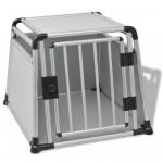 vidaXL Transportbur för hund aluminium L