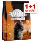 1 + 1 på köpet! 2 x 400 g Wild Freedom torrfoder Wide Country - Poultry