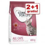 2 + 1 på köpet! 3 x 400 g Concept for Life kattfoder - All Cats 10+