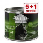 5 + 1 på köpet! Wild Freedom Adult 6 x 200 / 400 g - Golden Valley - Rabbit & Chicken 6 x 400 g