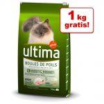6,5 kg + 1 kg på köpet! Ultima Cat torrfoder - Adult Salmon & Rice