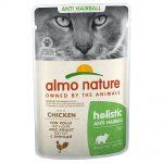 Almo Nature Holistic Anti Hairball portionspåse - Blandpack: 6 x med kyckling och 6 x med nötkött