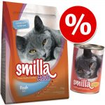Blandpack: 1 kg Smilla torrfoder + passande våtfoder - Kitten + 6 x 200 g Kitten Kyckling