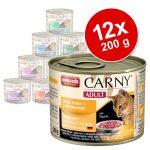 Blandpack: Animonda Carny Adult 12 x 200 g Blandpack höns & nötkött