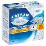 Catsan Active Fresh klumpbildande kattströ - Ekonomipack: 3 x 8 l