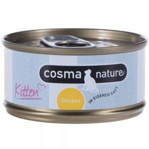 Cosma Nature Kitten 6 x 70 g - Kyckling & tonfisk