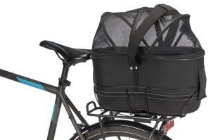 Cykelkorg och transportväska 2-i-1 (för smala pakethållare)