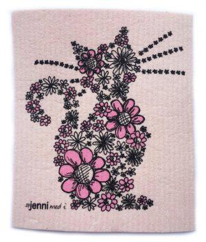 Disktrasa blommig katt ljusrosa