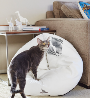 EMI modern catbed white