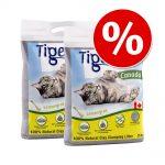 Ekonomipack: 2 x 12 kg Tigerino Canada kattströ Fresh cut grass