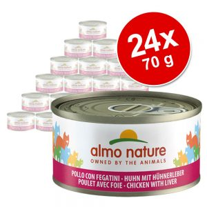 Ekonomipack: Almo Nature 24 x 70 g - Öring & tonfisk