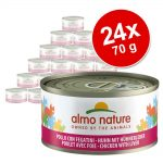Ekonomipack: Almo Nature 24 x 70 g - Kyckling & lever