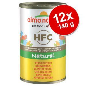 Ekonomipack: Almo Nature HFC 12 x 140 g - Tonfisk från Atlanten