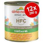 Ekonomipack: Almo Nature HFC 12 x 280 g - Kycklingfilé
