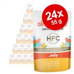 Ekonomipack: Almo Nature HFC Jelly Pouch 24 x 55 g Tonfisk & sjötunga