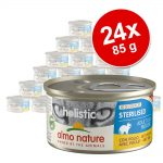 Ekonomipack: Almo Nature Holistic Specialised Nutrition 24 x 85 g - Urinary Help med anka