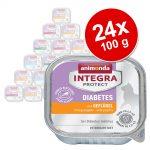 Ekonomipack: Animonda Integra Protect Adult Diabetes 24 x 100 g portionsform Fjäderfä