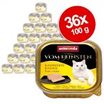 Ekonomipack: Animonda vom Feinsten för kastrerade katter 36 x 100 g - Kalkon & lax