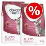 Ekonomipack: Concept for Life - All Cats 10 + (3 x 3 kg)