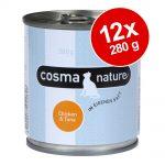 Ekonomipack: Cosma Nature 12 x 280 g - Kyckling & lax