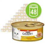 Ekonomipack: Gourmet Gold Melting Heart 48 x 85 g - Nötkött