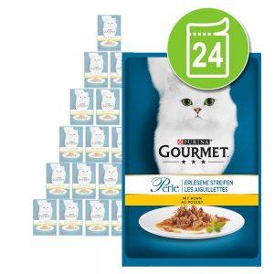 Ekonomipack: Gourmet Perle 24 x 85 g - Delikata strimlor med kalkon