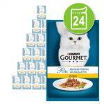 Ekonomipack: Gourmet Perle 24 x 85 g - Duetto di Carne med kyckling & nötkött