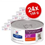 Ekonomipack: Hill's Prescription Diet Feline 24 x 156 g burkar - 156 g c/d Multicare i burk