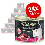 Ekonomipack: Miamor Feine Beute 24 x 185 g - Nötkött