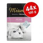 Ekonomipack: Miamor Ragout Royale i Cream 44 x 100 g - Anka i örtcrème