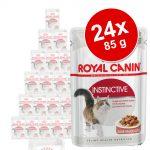 Ekonomipack: Royal Canin våtfoder 24 x 85 g - Instinctive +7 i sås