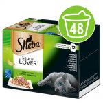 Ekonomipack: Sheba 48 x 85 g portionsform i blandpack - Selection in Sauce