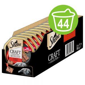 Ekonomipack: Sheba Craft Collection portionsform 44 x 85 g - Paté med fina bitar av hönskött