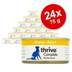Ekonomipack: Thrive Complete 24 x 75 g - Kycklingbröst & lever
