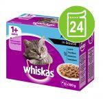 Ekonomipack: Whiskas 1+ portionspåse 24 x 85 g / 100 g - 1+ Klassiskt urval i sås