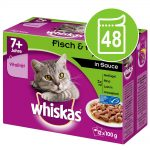 Ekonomipack: Whiskas 7+ Senior portionspåse 48 x 100 g - 7+ Fågelurval i gelé 100 g