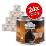 Ekonomipack: Wild Freedom Adult 24 x 200 g - Golden Valley - Rabbit & Chicken